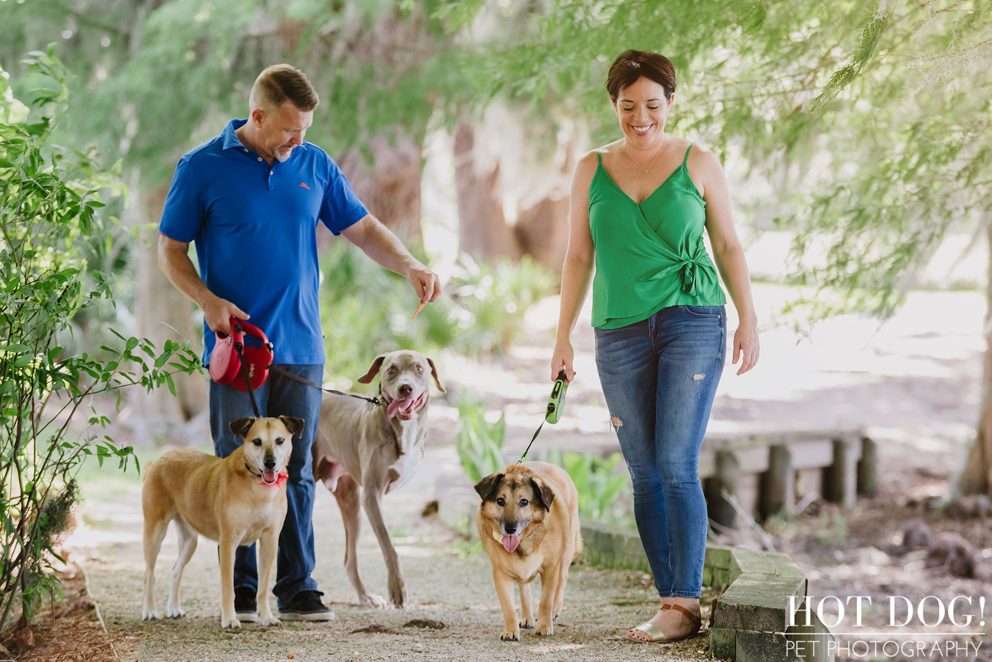 Tobie, Kimmie & Riki | Winter Garden Pet Photography